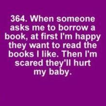 I don't like lending books