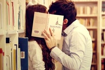 Bookstore Flirting Image