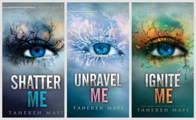 Shatter Me Series Book Covers