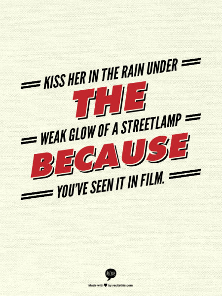 Kiss Her In The Rain Quote