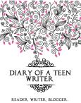 Diary of a Teen Writer Button