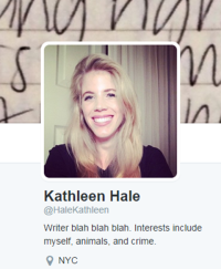 Kathleen Hale Twitter Image and Profile