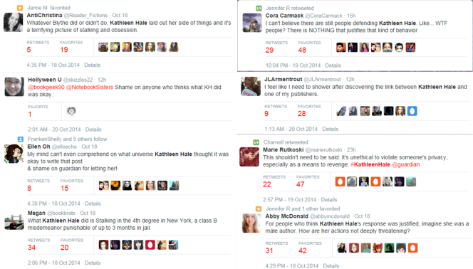 Tweets About Kathleen Hale Scandal