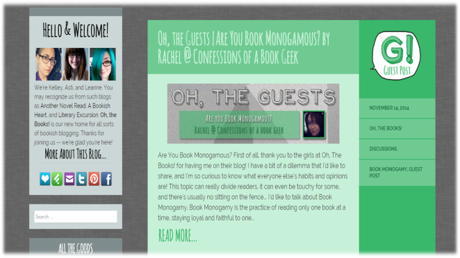 Guest Post Oh The Books