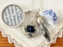 Sherlock Holmes Tea Necklace