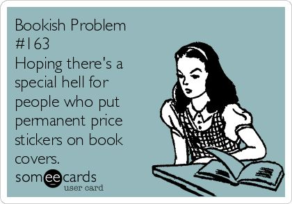 Book Geek Problem Stickers on Books