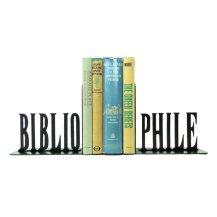 Bibliophile Metal Bookends