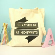 I'd Rather Be At Hogwarts Tote