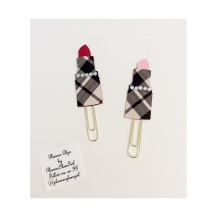 Lipstick Paperclip Bookmarks