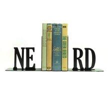 Nerd Metal Bookends