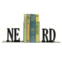Nerd Metal Bookends