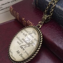 Pride and Prejudice Necklace