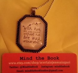 Mind the Book Necklace