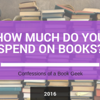 How Much Do You Spend On Books? 2016 Edition