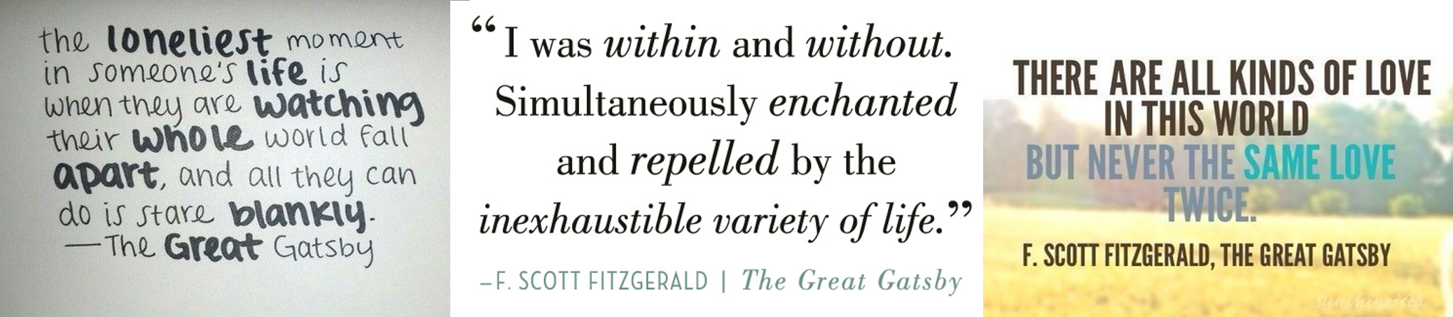 a review of the story of the great gatsby Wisely, mr fitzgerald tells his story through the medium of nick carroway [sic], who, after graduation from yale in 1915 had participated in the delayed teutonic migration known as the great war.