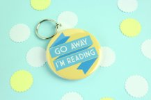 go-away-im-reading-keyring
