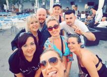 The Ibiza Gang by the pool