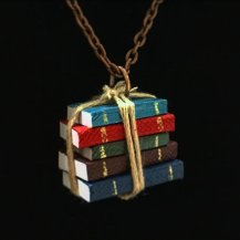Mini Books Necklace